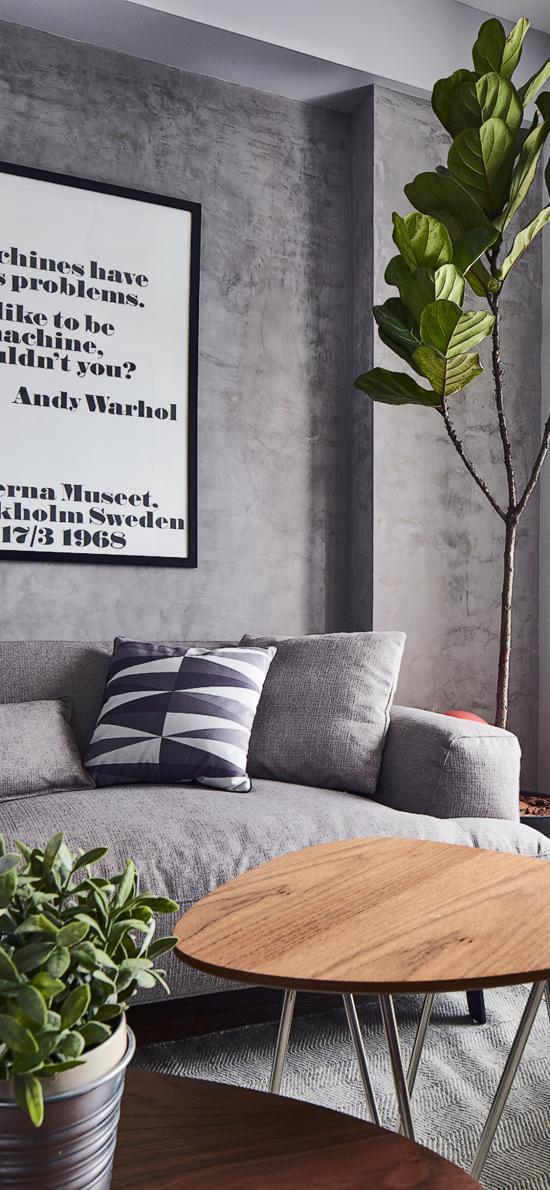 家居 设计 现代 盆栽 灰色系