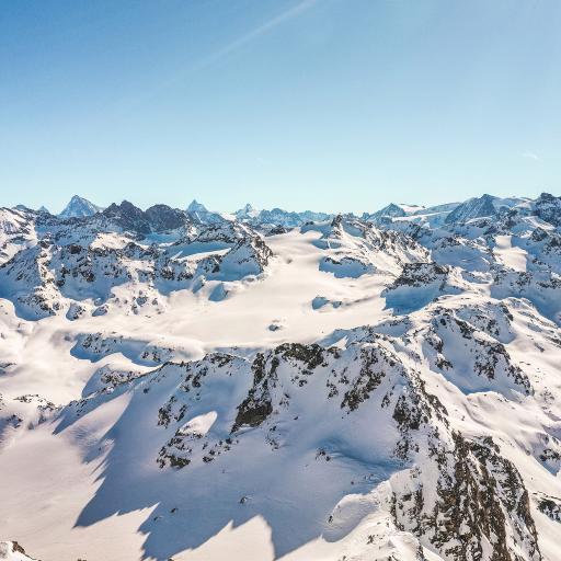 冬季 雪山 雪景 阳光