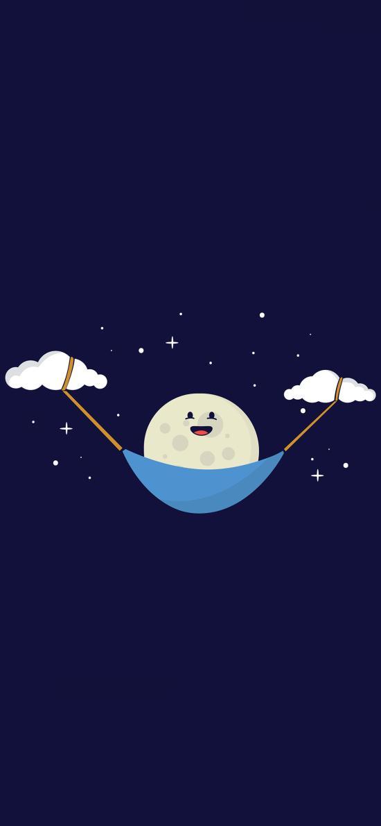 趣味 云朵 夜晚 月球