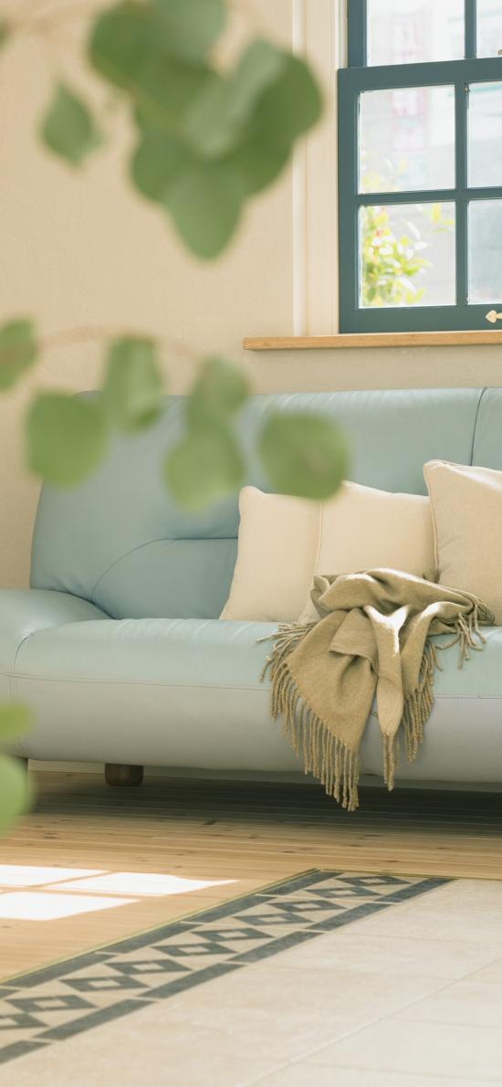 沙发 毛毯 靠枕 室内 客厅