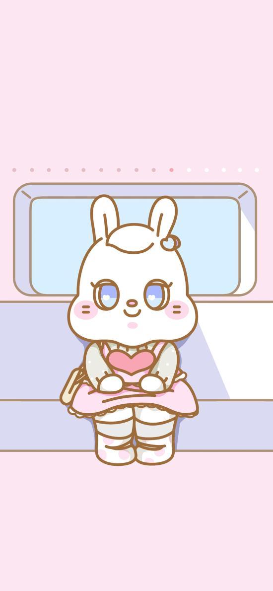兔子 萌咔便利店 可爱 粉色 列车