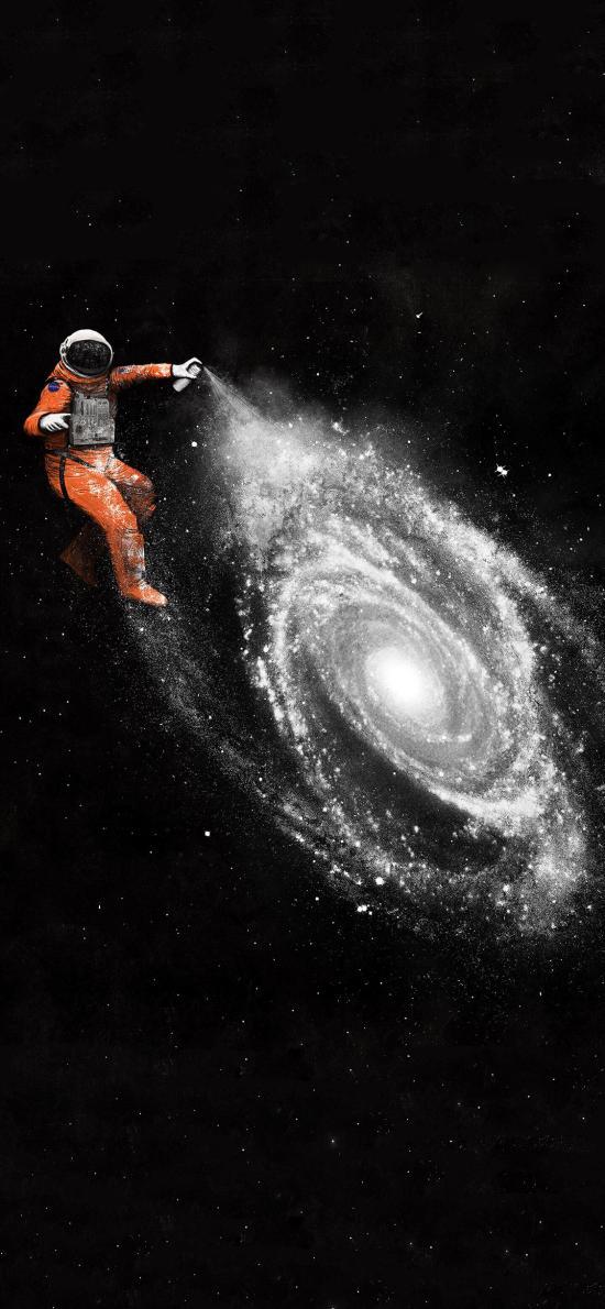 插图 宇航员 旋涡 创意