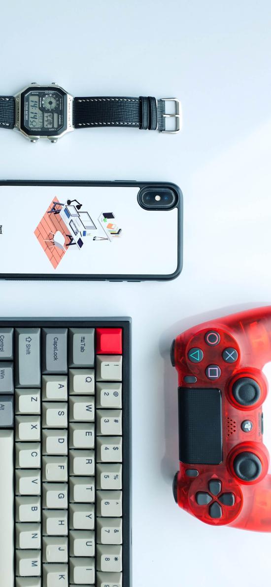 静物 手机 手表 键盘 游戏手柄