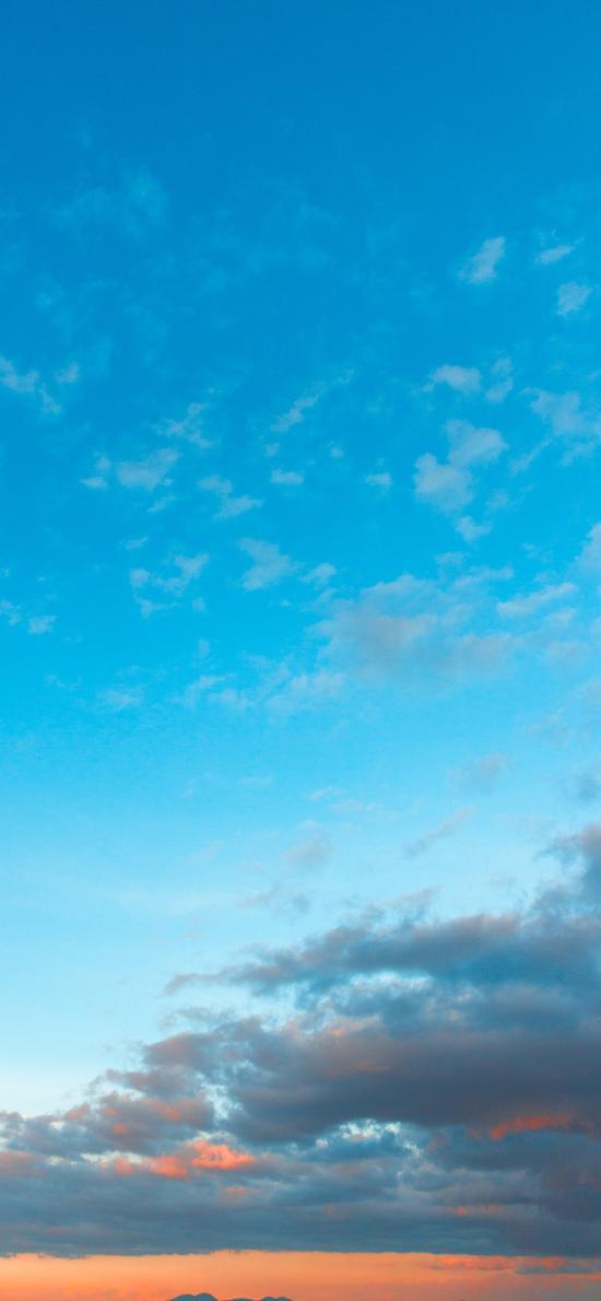 天空 渐变 蓝天 云彩