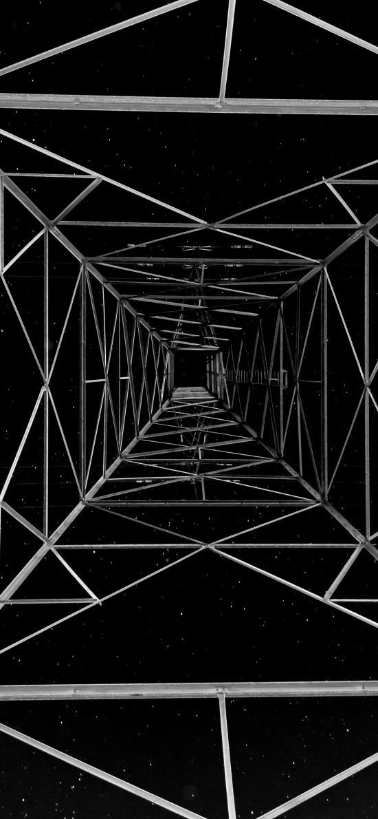 建筑 设计 塔架 星空