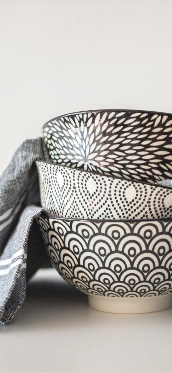 瓷器 碗 纹路 花纹 布