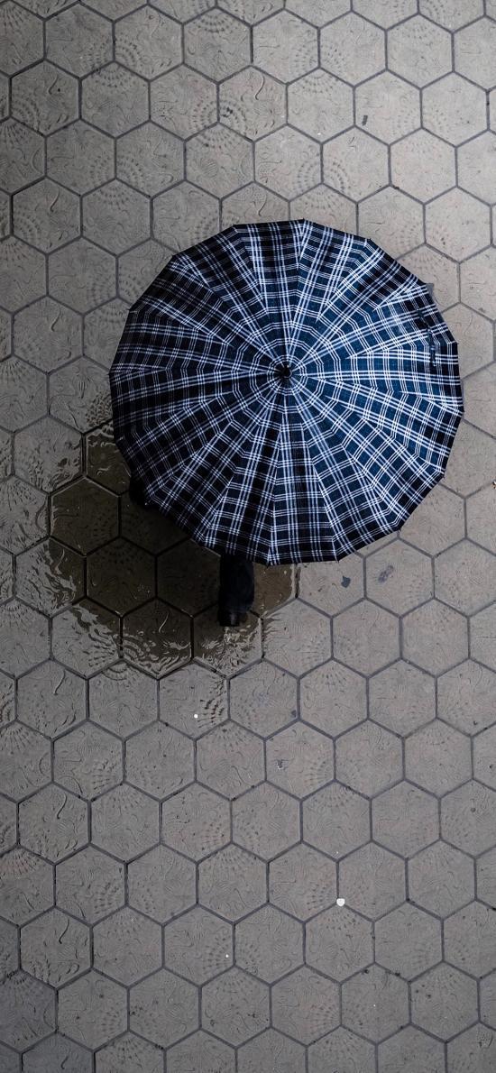 雨伞 下雨 行人 道路