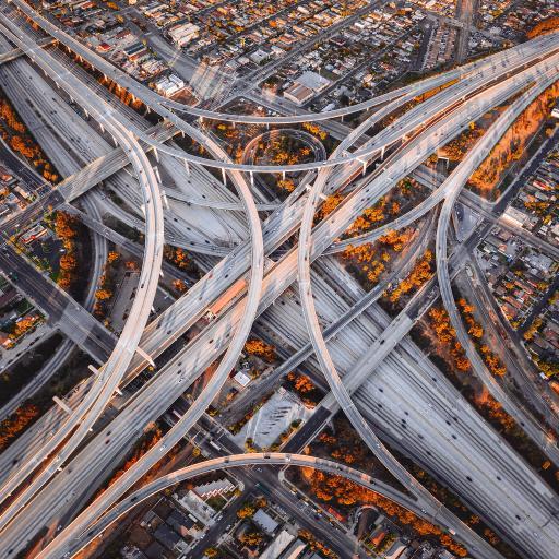 城市 建筑 天桥 道路 交通