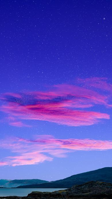 天空 云朵 粉色 唯美