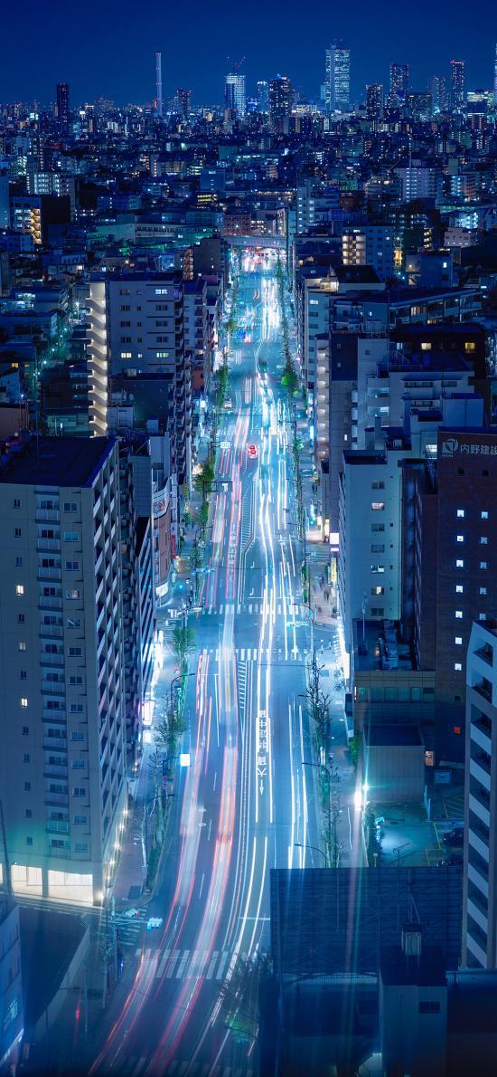 城市 高楼建筑 灯光 夜景