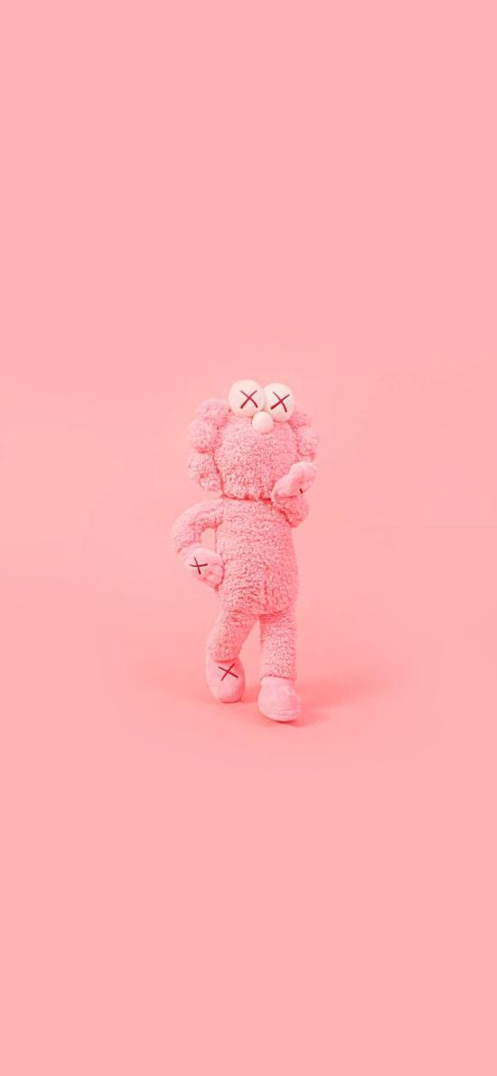 KAWS 粉色 玩偶 潮牌 品牌