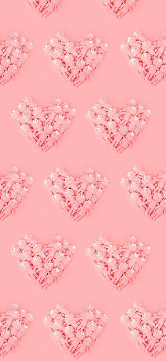 KAWS 粉色 玩偶 爱心 潮牌 品牌