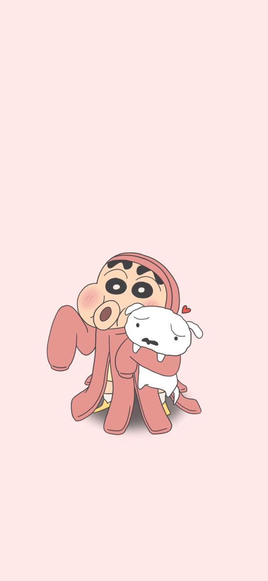 蜡笔小新 粉色 小白 章鱼 动画