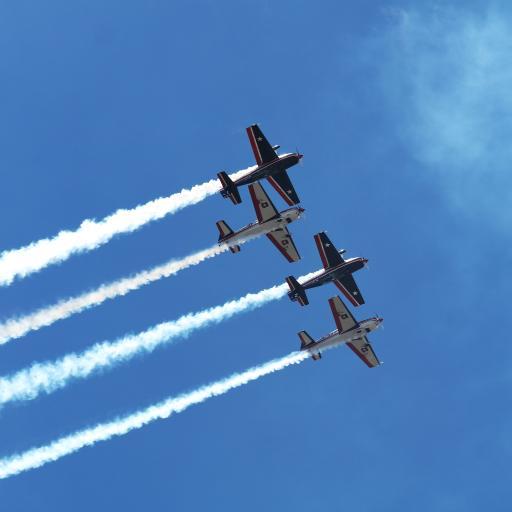 飞机 飞行 航空 排列 烟雾