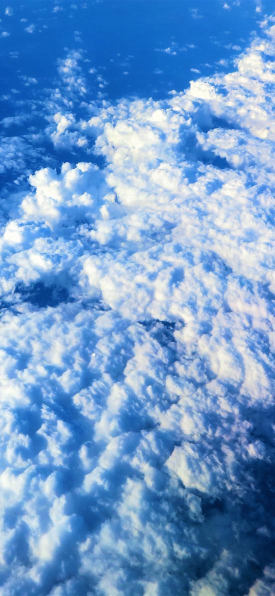 天空 蓝白 云朵 云端