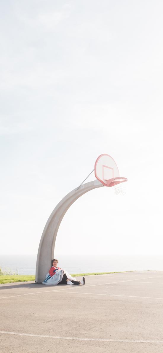 球场 球框 篮球 天空 场地