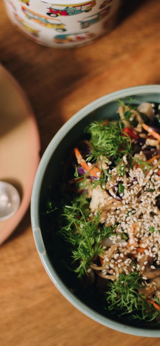 沙拉 健康 蔬菜 芝麻