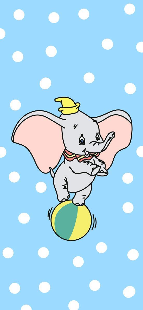 小飞象 蓝色 迪士尼 大象 卡通 动画