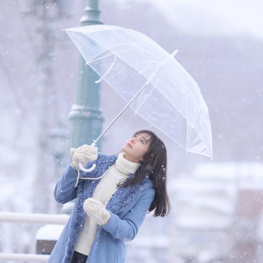 秦岚 演员 明星 艺人 冬季 下雪