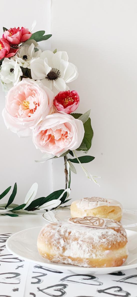 鲜花 花束 糕点 甜品