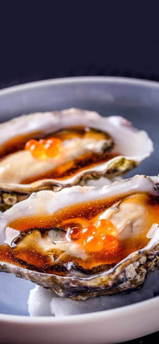海鲜 生蚝 鱼籽 酱汁