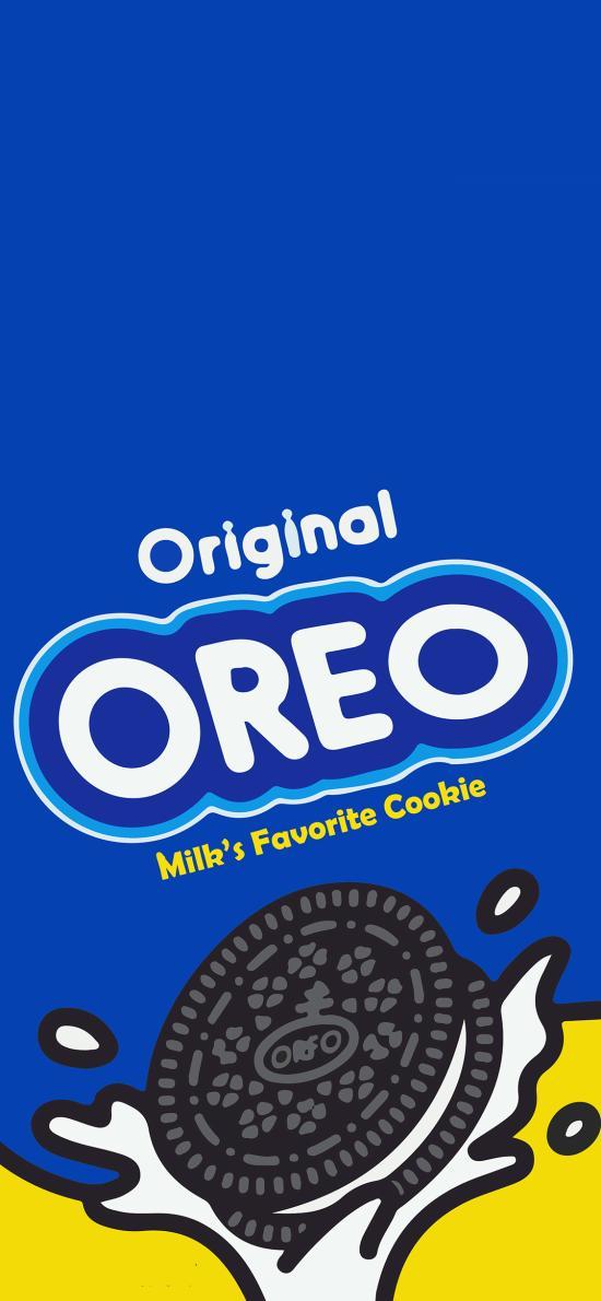 奥利奥 蓝色 饼干 零食 包装