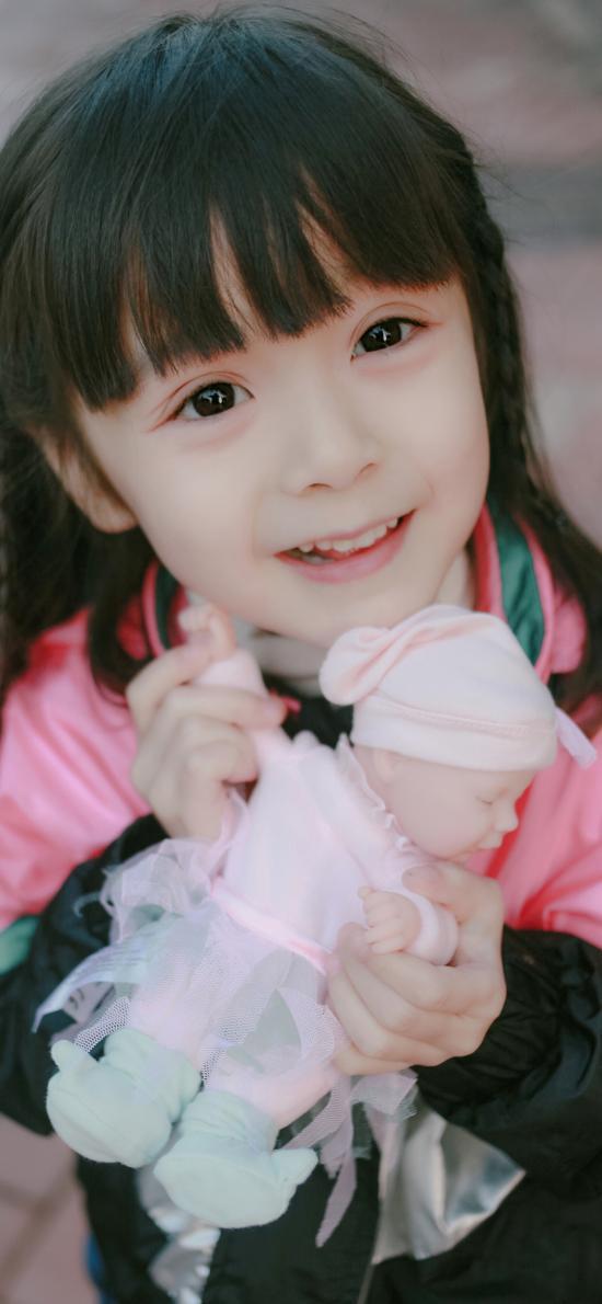 哈琳 小女孩 可爱 萌 儿童 娃娃