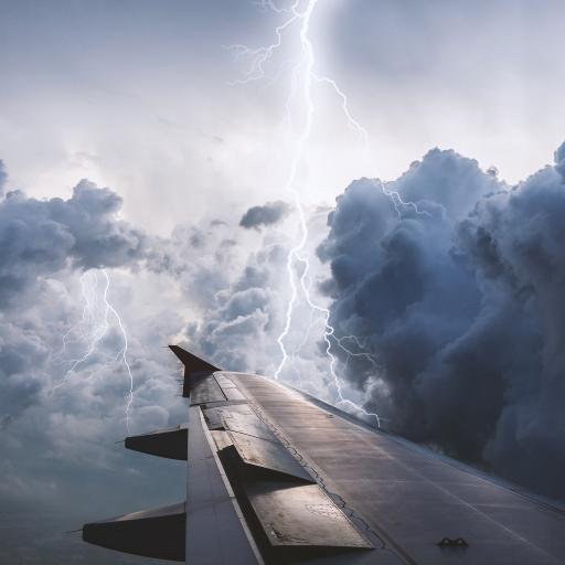 闪电 飞机 机翼 天空