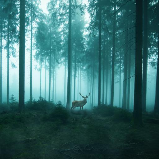 鹿 树林 森林 静谧 唯美