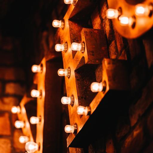 灯牌 灯泡 排列 光亮