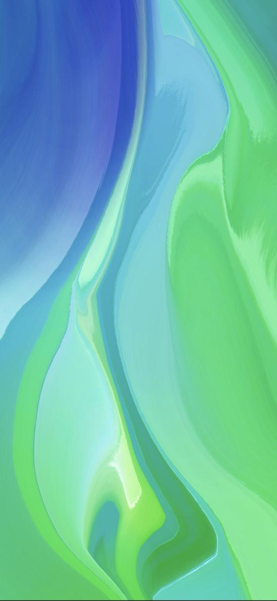 炫丽 绿色 渐变 色彩