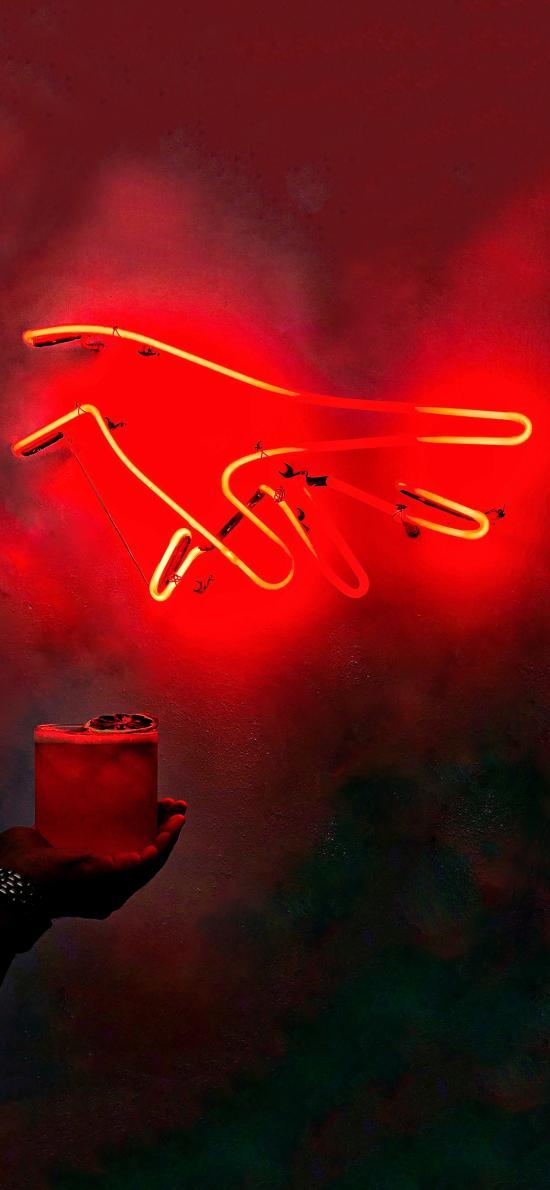 灯饰 手 饮品 调制
