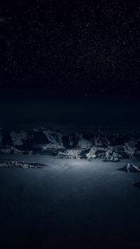 先看看 雪山 夜空 黑暗