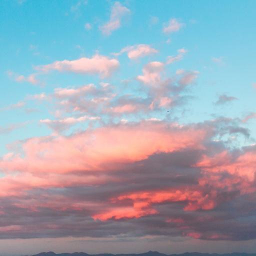 天空 渐变 夕阳 云彩 云层