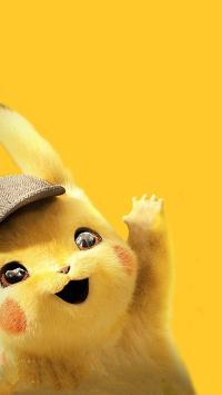 大侦探皮卡丘 电影 欧美 可爱 招手 黄色