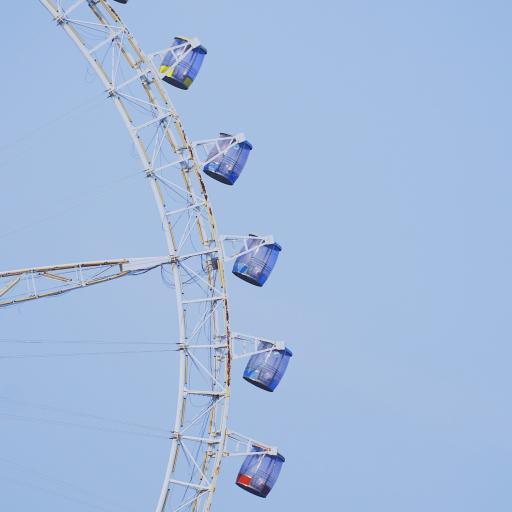 摩天轮 蓝色 娱乐设施 游乐场