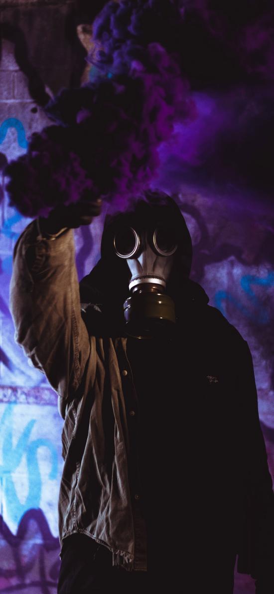 求救 信号弹 烟雾弹 防毒面具