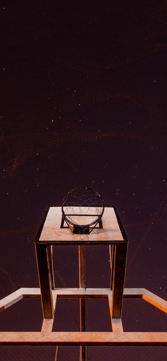 篮球架 球框 夜晚 星空 运动