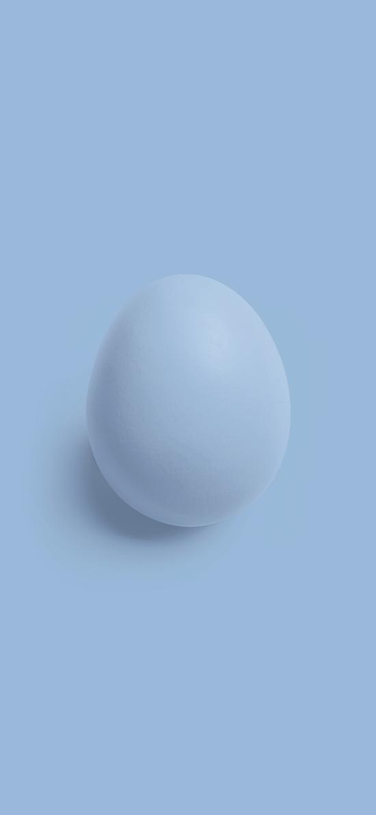 鸡蛋 单颗 简约 灰白