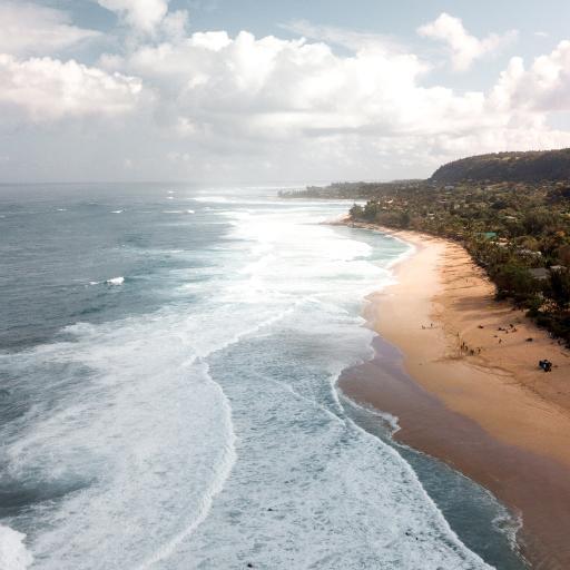 海岸 海浪 天空 大海