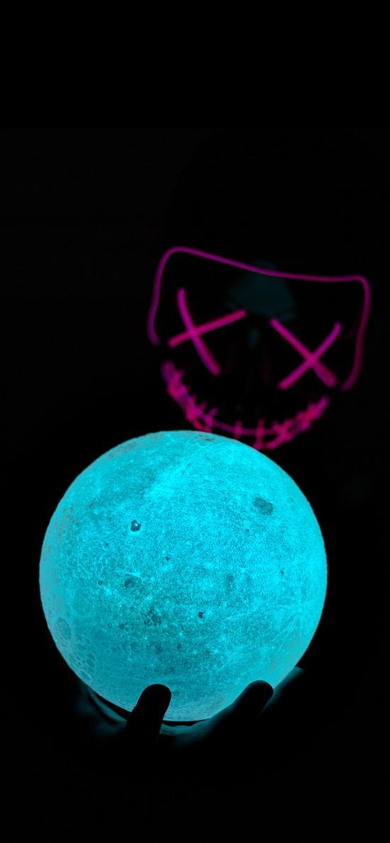 球体 面具 夜光 蓝光