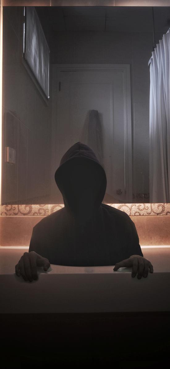 人物 写真 黑脸 神秘 创意写真