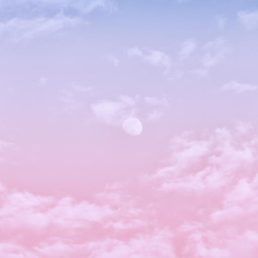 天空 渐变 粉色 云朵
