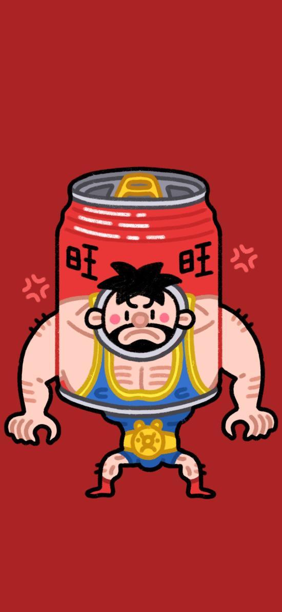 卡通 旺旺 饮品 Q版