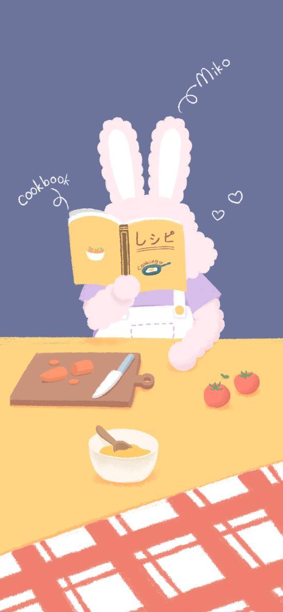 做饭 料理 兔子 萌咔便利店 番茄
