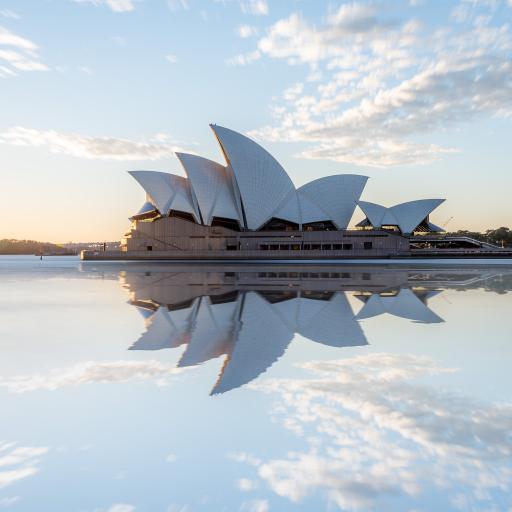 悉尼歌剧院 建筑 倒影 澳洲 澳大利亚