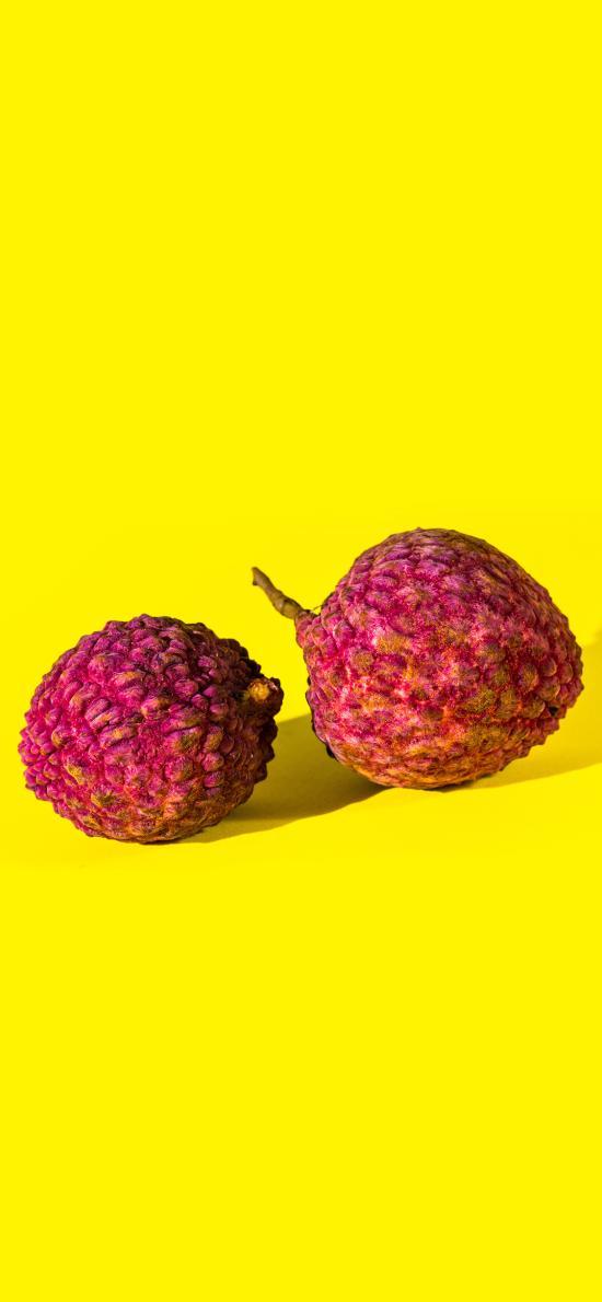 荔枝 水果 果实 黄色 鲜艳