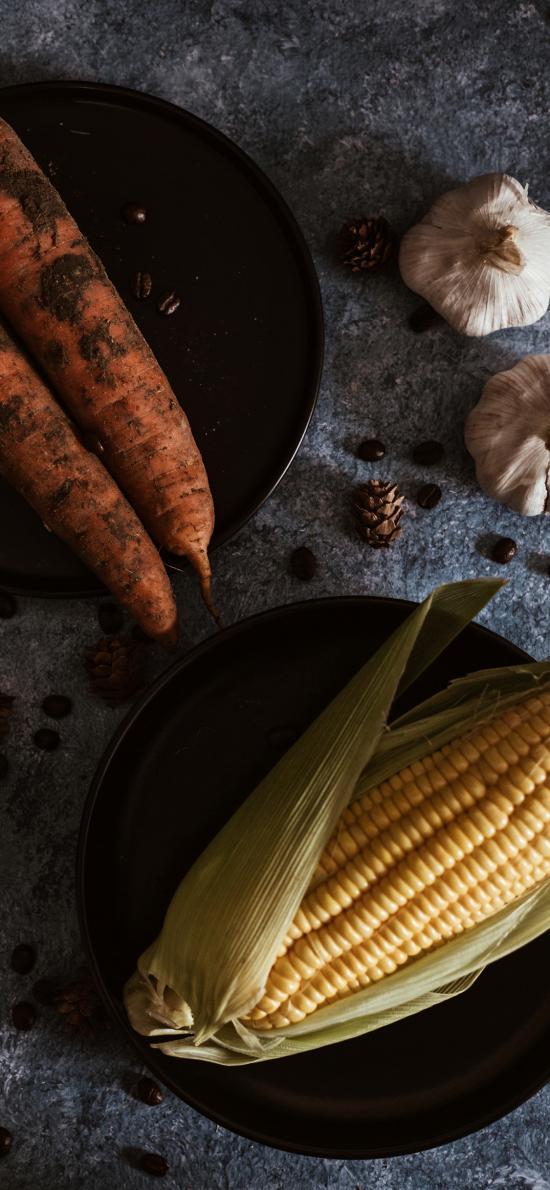 玉米 胡萝卜 大蒜 食材
