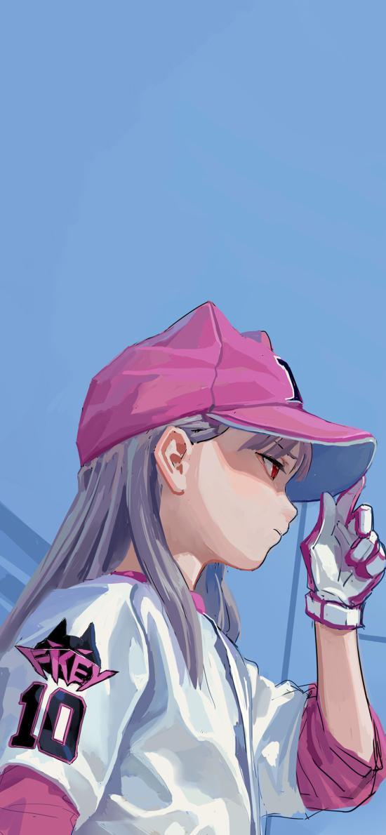 网球 少女 二次元 粉色