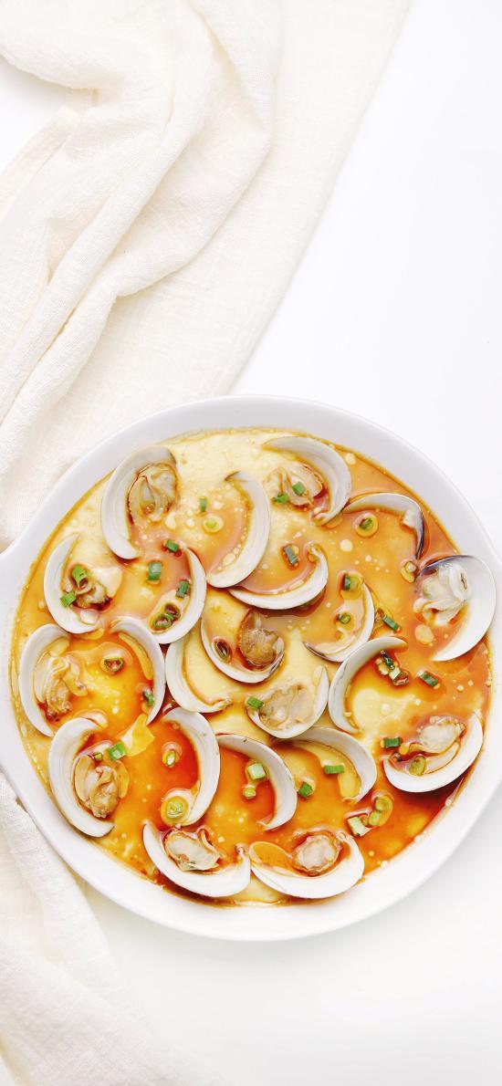 夏蛤蒸蛋 食物 料理 海鲜